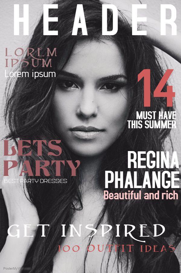 Fashion Magazine Cover Design Template Magazine Cover Template Magazine Cover Fashion Magazine Cover