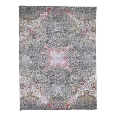 17 Stories 9 X12 1 Grey Hi Low Pile Abstract Design Wool And Silk Hand Knotted Oriental Rug 36b40135abac440eb3c0e0f7f167b800 Rugs On Carpet Rugs Hand Knotted Rugs