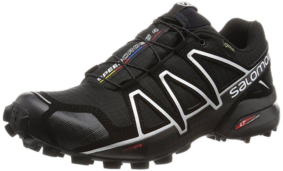 Salomon Herren Speedcross 4 Gtx Trailrunning Schuhe Schwarz Black Black Silver Metallic X Gr 40 Amazon De Mit Bildern Schwarze Laufschuhe Laufschuhe Salomon Schuhe