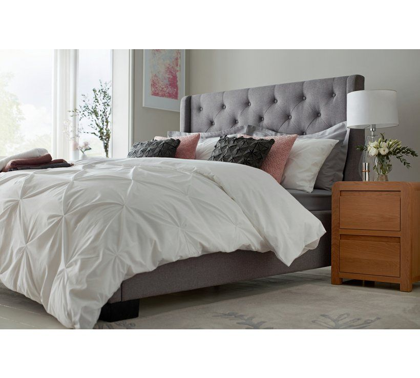 Buy Argos Home Levena Double Fabric Bed Frame Grey Bed Frames