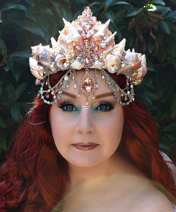 Mermaid Crown Shell Crown Mermaid Headpiece by OnGossamerWings