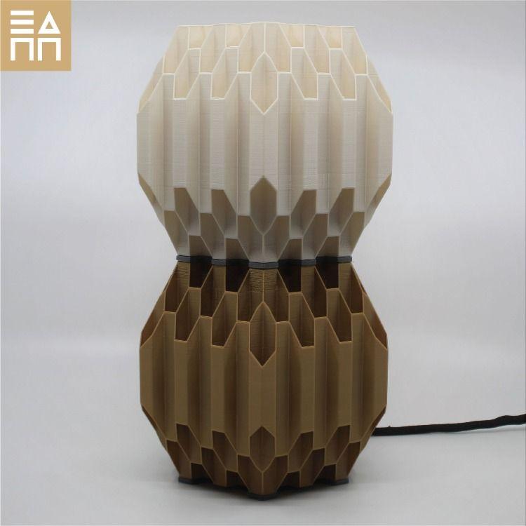 The Hexagon Overload 3d Printed Desk Lamp Lamp Desk Lamp Hexagon