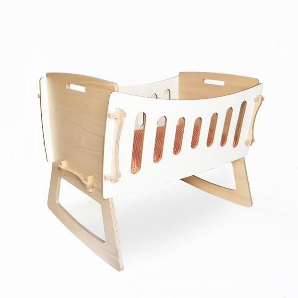 Minicuna balancín de madera | Cots, Crib and Kids furniture