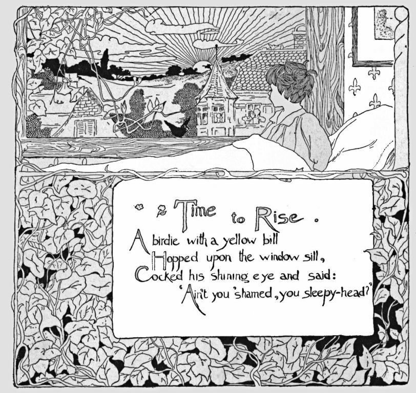 Time To Rise By Rls A Singable Poem With Images Art Deco