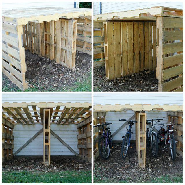 Best 25 outside bike storage ideas on pinterest bike for Bike garden storage solutions
