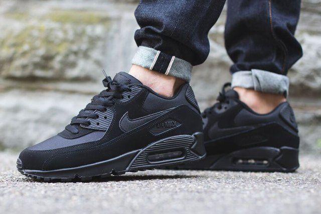 020696427d NIKE AIR MAX 90 (TRIPLE BLACK) - Sneaker Freaker | Shoesies in 2019 ...