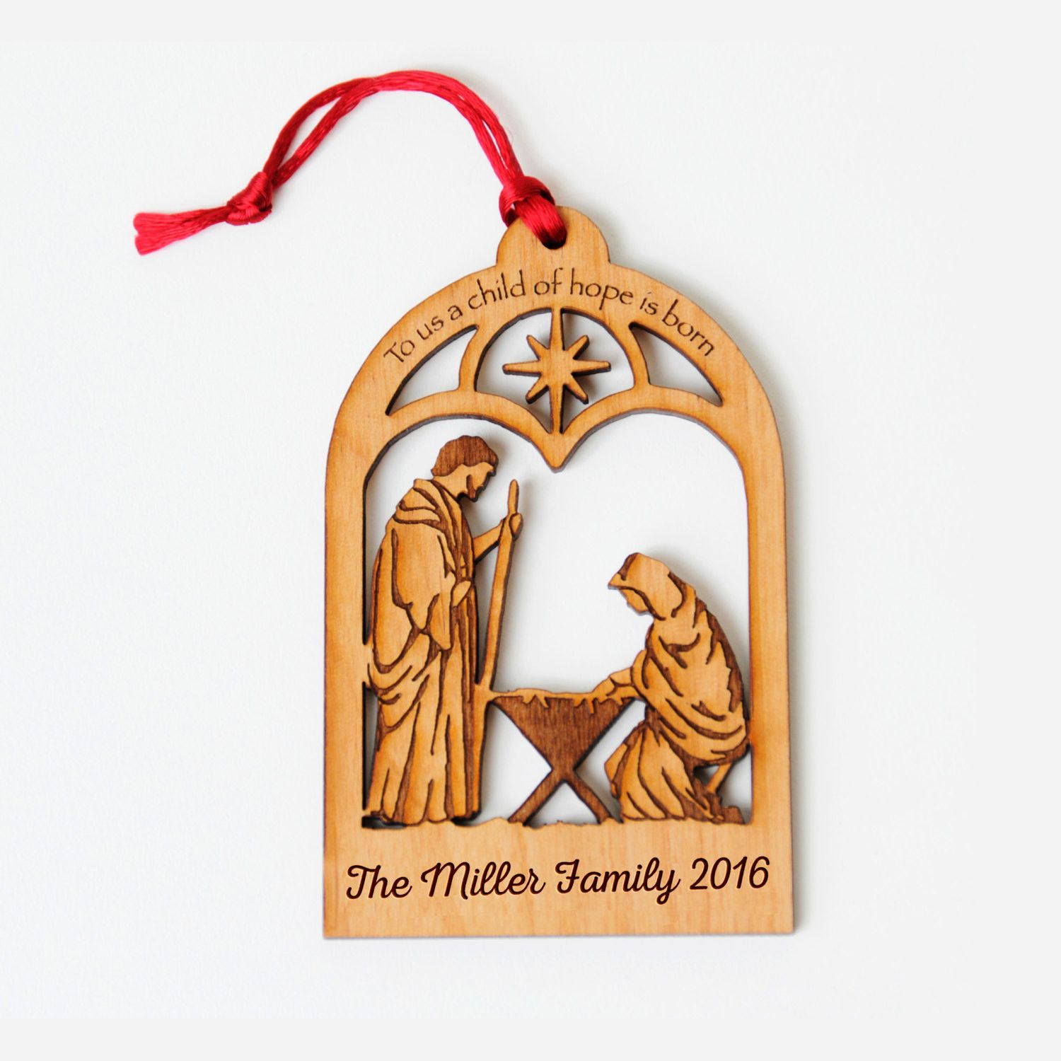 christmas ornament nativity scene personalized christian christmas ornaments