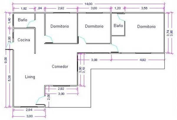 4 5 plano casas planos gratis planos esquemas de plantas autocad casas planos cosas para - Como hacer unos planos de una casa ...