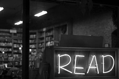 read neon sign | Book worms, Bookish, Books
