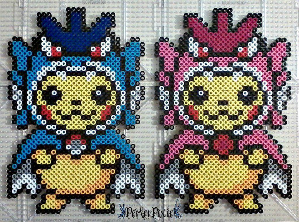 Pikachu Wearing Gyarados Hoodies By Perlerpixie Pokemon