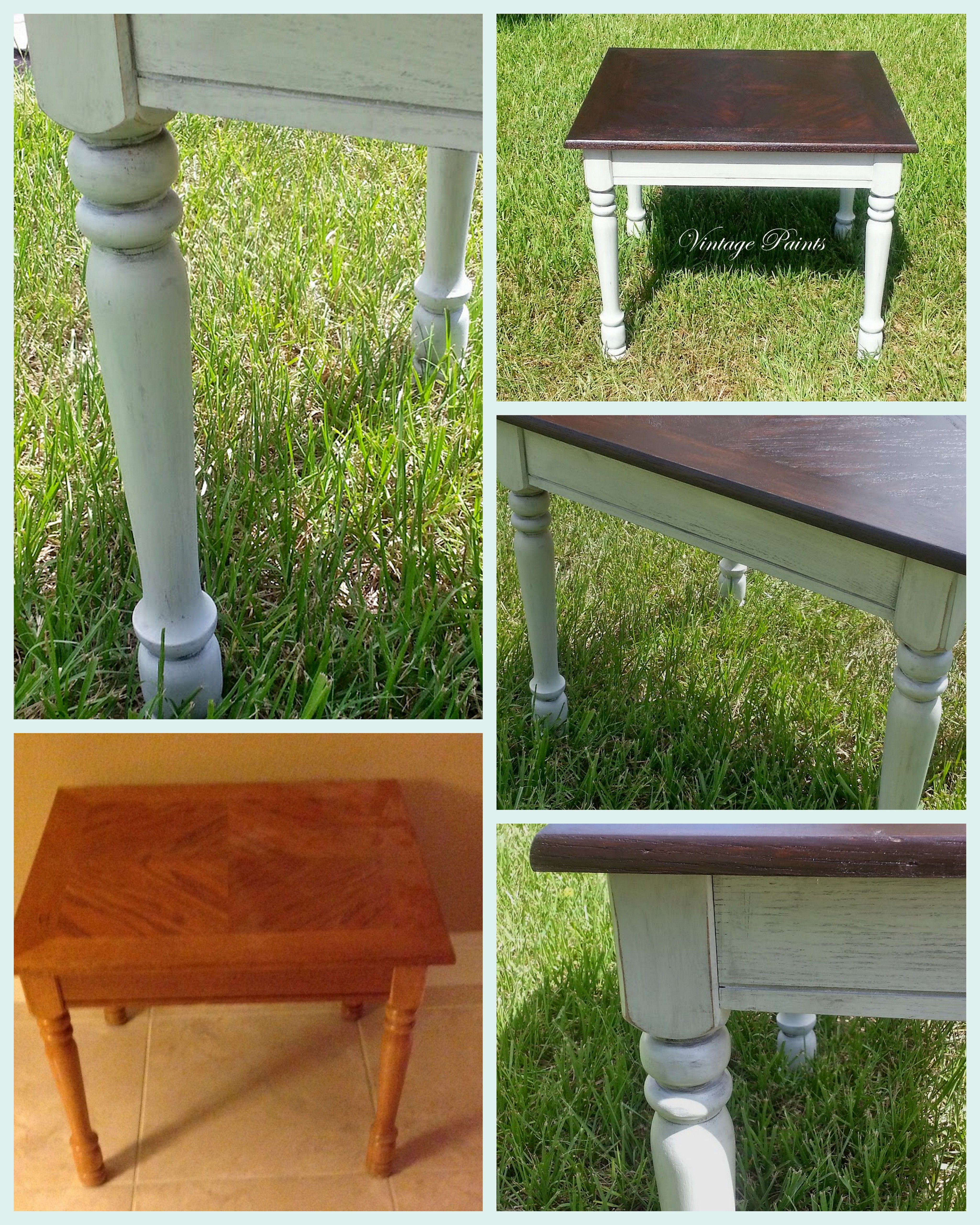 An Old Dated Honey Oak End Table Is Now Modern And Chic. Revere Pewter  Painted
