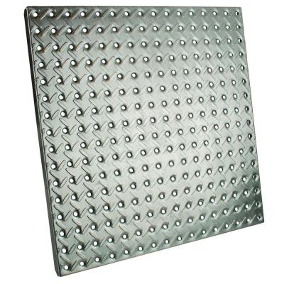 16 In X 16 In Galvanized Pegboard With Diamond Plating 24305