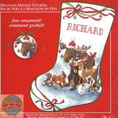 christmas stocking cross stitch dog - Google Search | Christmas ...