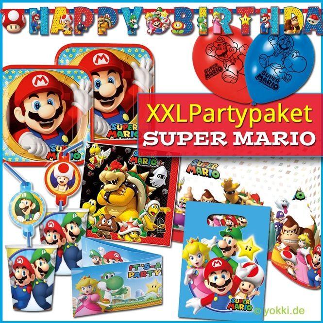 super mario - xxl party paket | nintendo party, partyspaß