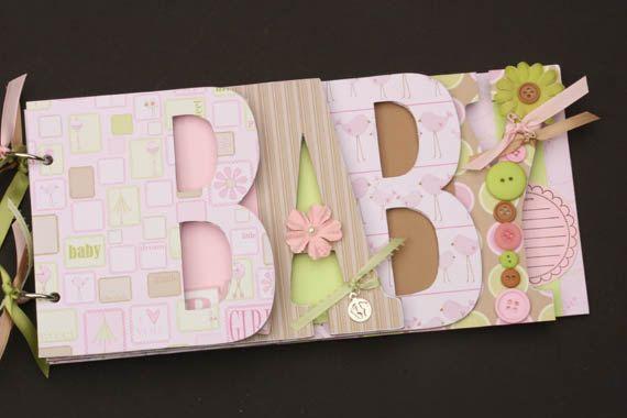 Baby Scrapbook Album Premade Scrapbook Word By Sandysscrapbooks