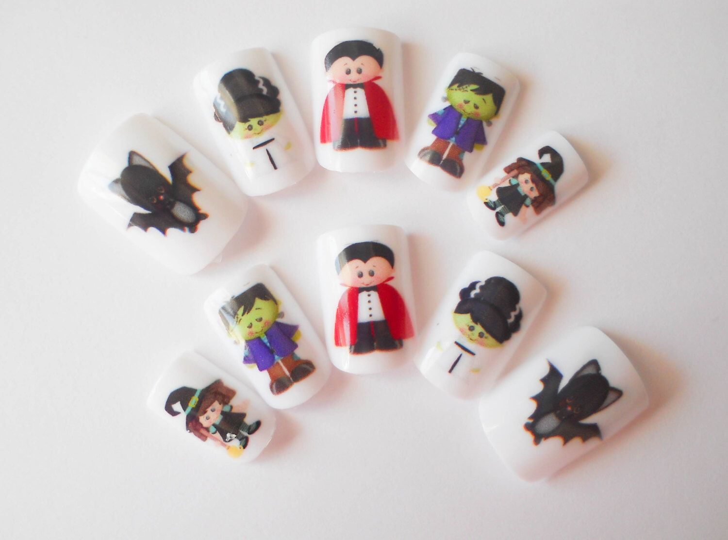 Beautiful Fake Nails For Halloween Sketch - Nail Art Ideas ...