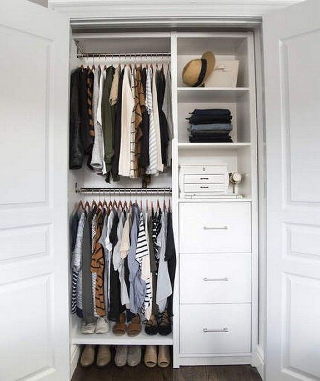 40 Best Ways To Makes Functional Small Closets Ideas Closet Small Bedroom Small Closet Organization Bedroom Small Closet Space