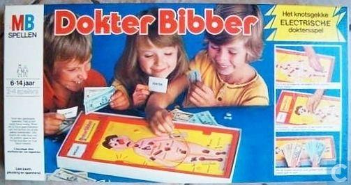 Dokter Bibber. Ik had dit spel, hilarisch vond ik het :-)  Anno nu wordt het nog steeds verkocht.