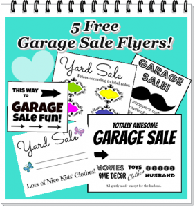 how to make a garage sale flyer