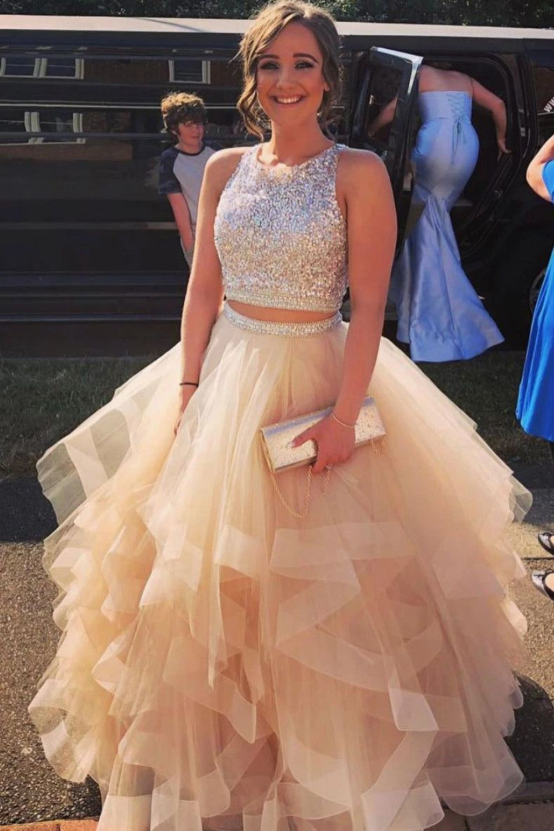 25+ Champagne 2 piece prom dress inspirations