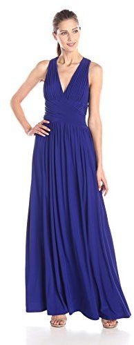 Hailey by Adrianna Papell Women's Cross Back Jersey Gown