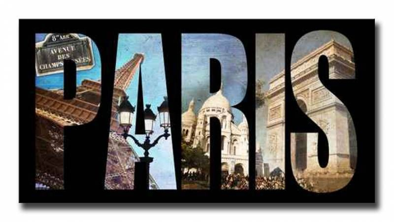 40253804 cuadro letras paris collage cuadros ciudades - Cuadros audrey hepburn ...