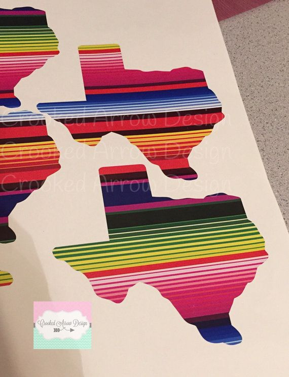 Serape State Decal For Any Hard Surface Texas Serape Decals