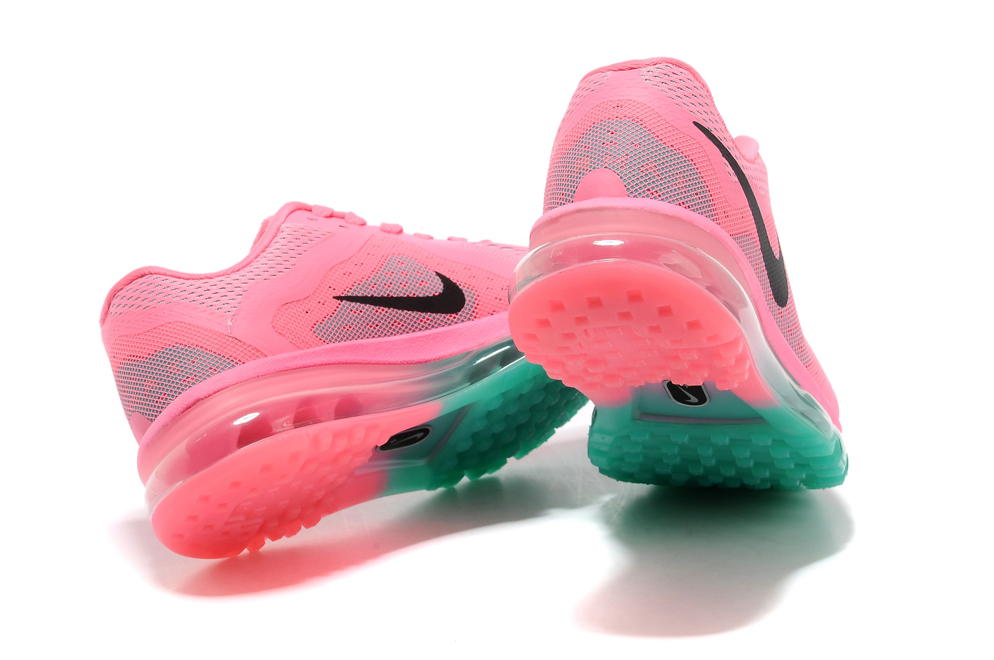 new style 3e02a ae2df Nike Air Max 2014 Womens Running Shoes Pink Black Green
