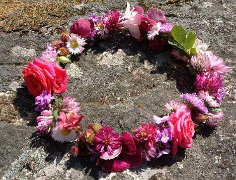 Midsummer flower wreath. Easy and fun. Kids craft. DIY.