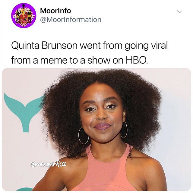Congratulations To Quintabrunson For Going From Vine To Youtube To Facebook And Now Hbo Via Moorinfo2 Themelaninshadesro Hbo Instagram Youtube