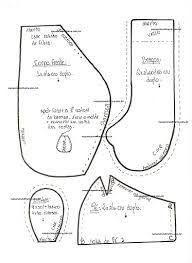 Resultado de imagen para molde bebe em tecido passo a passo articulado