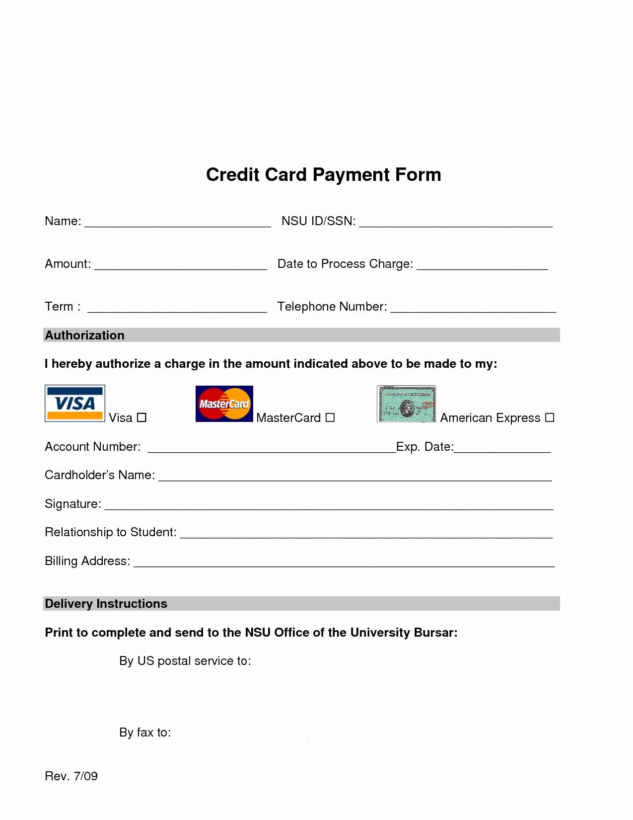 50 Inspirational Credit Card Payment Form Template In 2020 Free