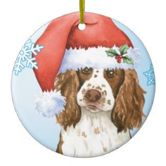 Springer Spaniel Christmas Ornament Shatter Proof Ball Easy To Personalize A Perfect Gift For Springer Spaniel Lovers E/&S Pets