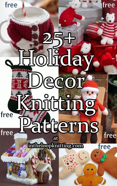 Knitting Patterns For Holiday Decorations For Christmas Holiday
