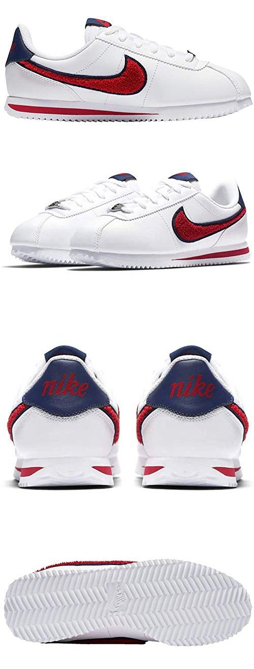 fb749fe5 NIKE Cortez Basic LTR SE White/University Red-Blue Void (Big Kid ...