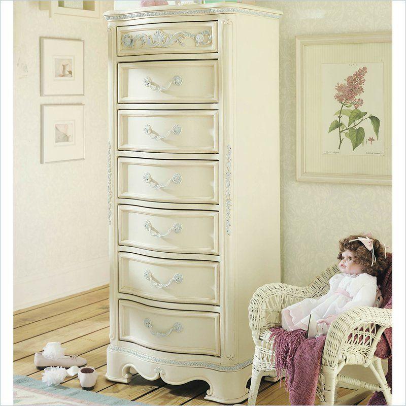 Lea Jessica McClintock Drawer Lingerie Chest In Antique White     Lea  Furniture
