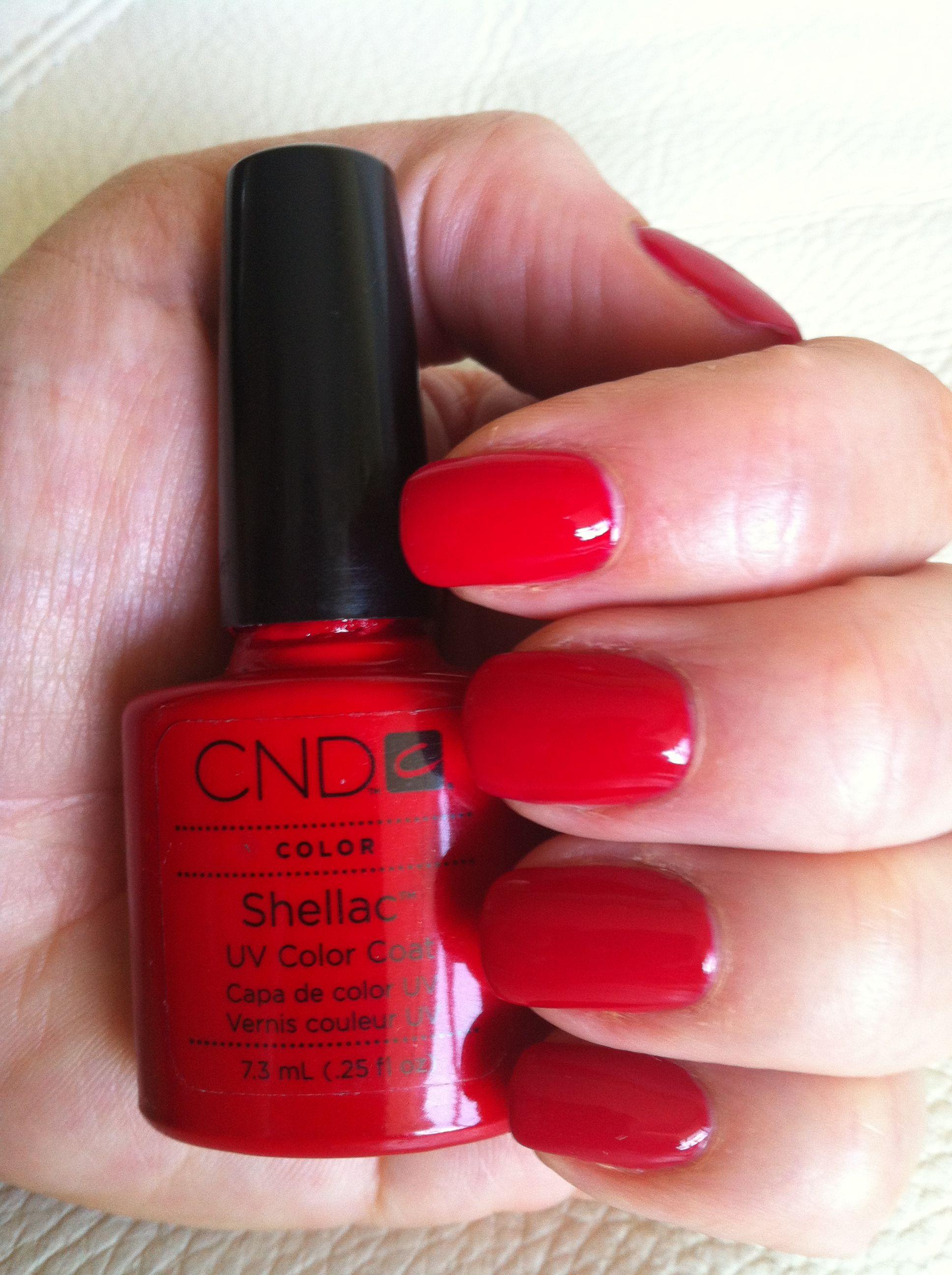 Shellac Red nail polish. | Uñas | Pinterest