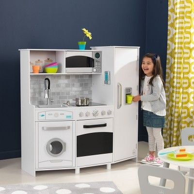 Large Play Kitchen With Lights Sounds White Play Kitchen