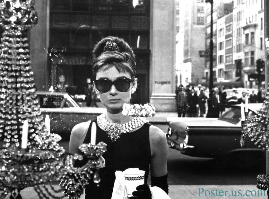 Audrey Hepburn as Holly Golightly, 'Breakfast at Tiffany's' window scene
