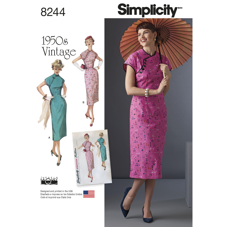 Simplicity 8244 Misses\' 1950s Dress