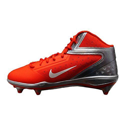 buy popular 670ad be588 Amazon.com   Nike Alpha Talon Elite 3 4 Detachable Men s Football Cleats  (11, Orange Flash White-Chrome)   Football