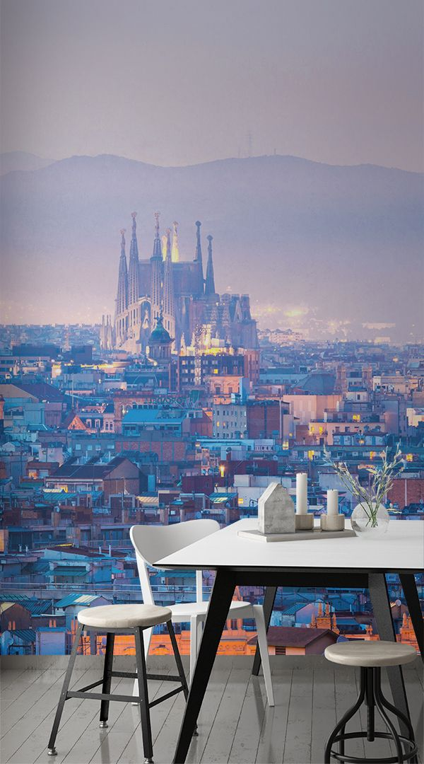Best Barcelona Gaudi Wallpaper Mural With Images Living Room Wall Color Room Wall Colors 400 x 300