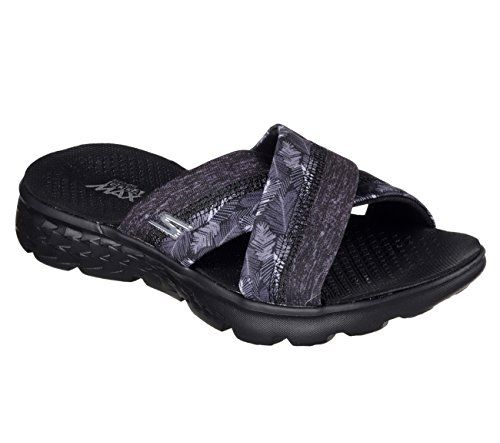 89cc1ee7f82a Skechers Performance Womens On The Go 400 Tropical Flip Flop Black 11 M US      Want to know more