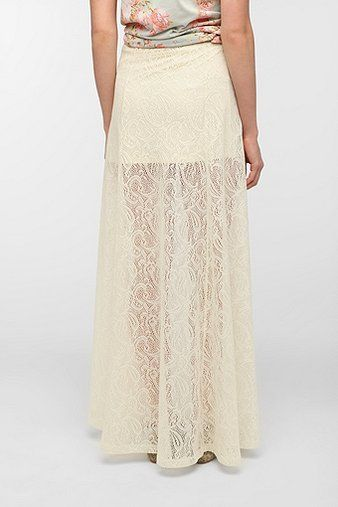 want. Pin And Needles Lace A-Line Maxi Skirt