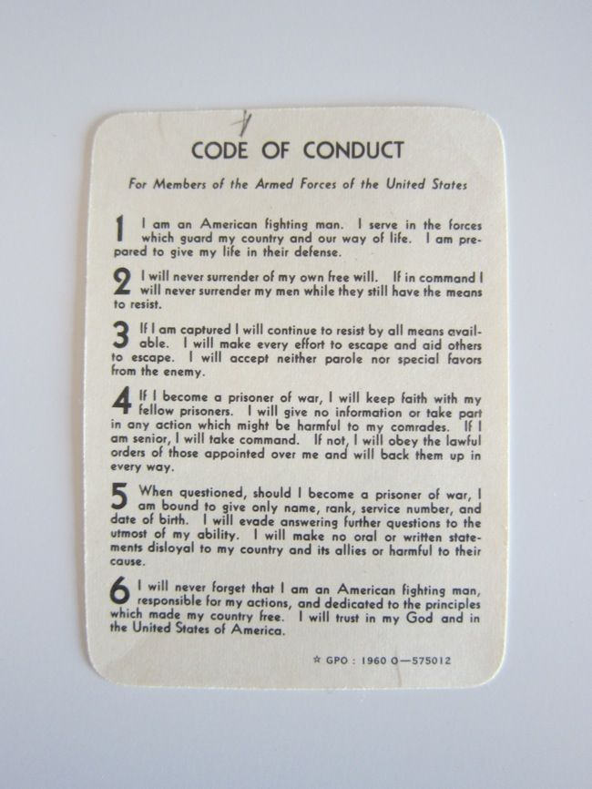 military code of conduct pdf