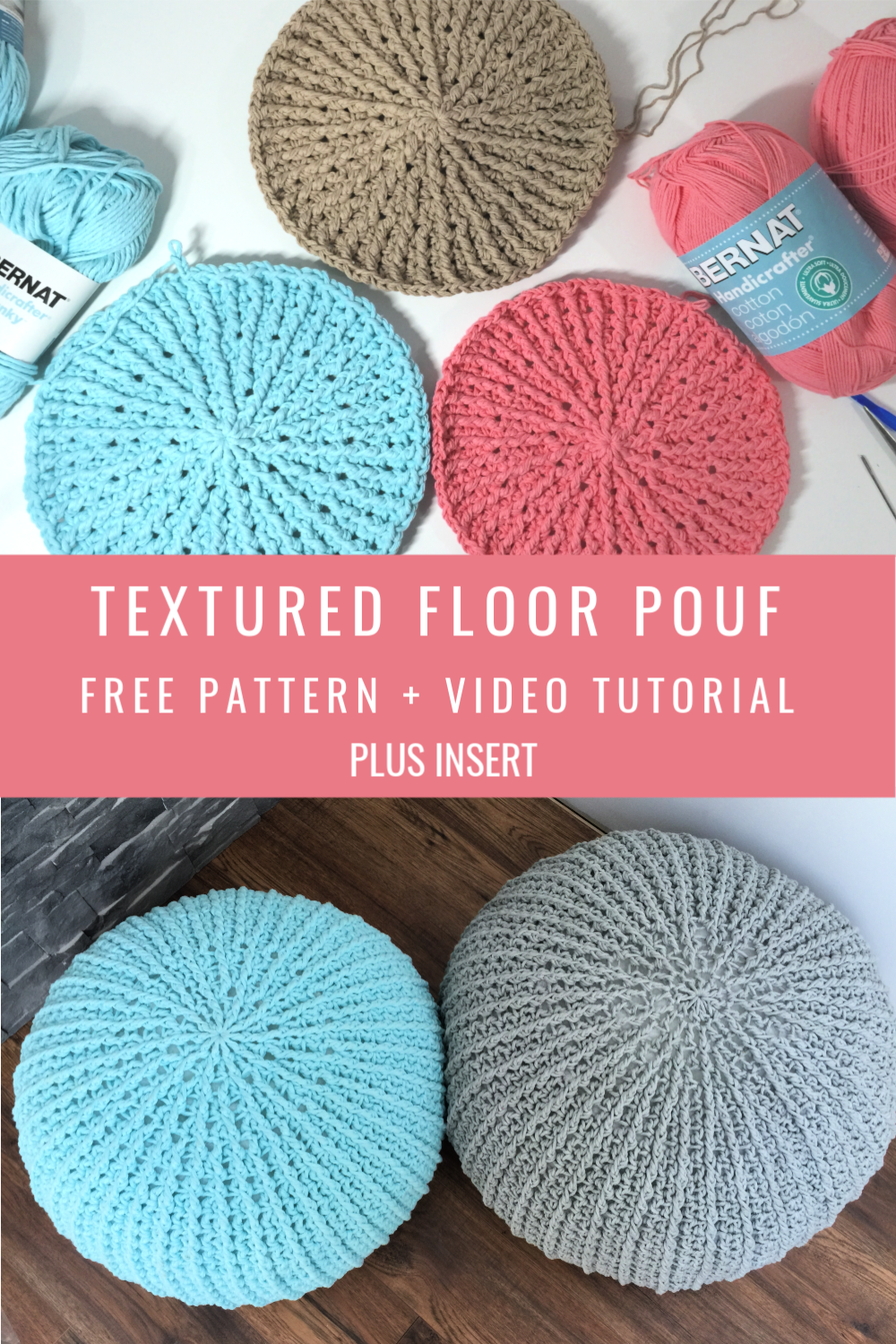 Free Crochet Floor Pouf Tutorial – MJ's off the Hook Designs – Diy home decor