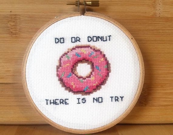 PATTERN: Do Or Donut Funny Cross Stitch Pattern by jimjamcrafts