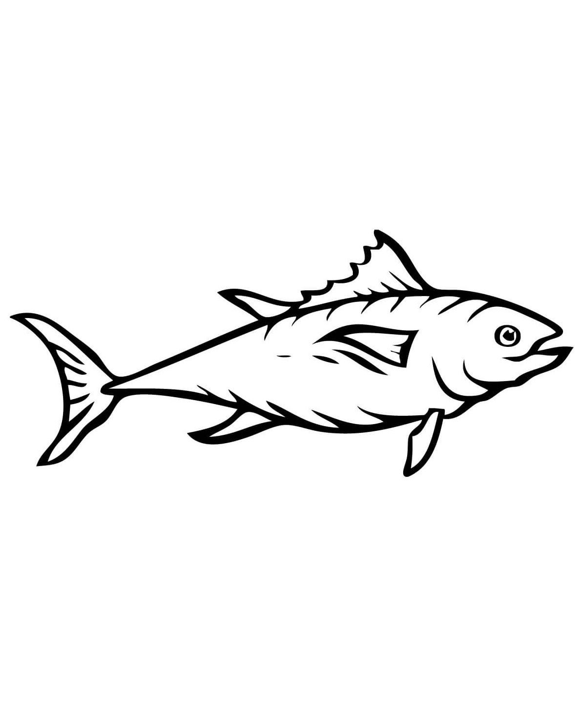 Tuna Fish Coloring Pages For Kids Cho Printable Fish Coloring Pages For Kids