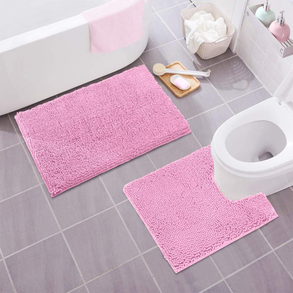 Pink Bathroom Accessories Pink Bathroom Accessories Pink Bathroom Decor Pink Bath Rug [ 1100 x 1100 Pixel ]