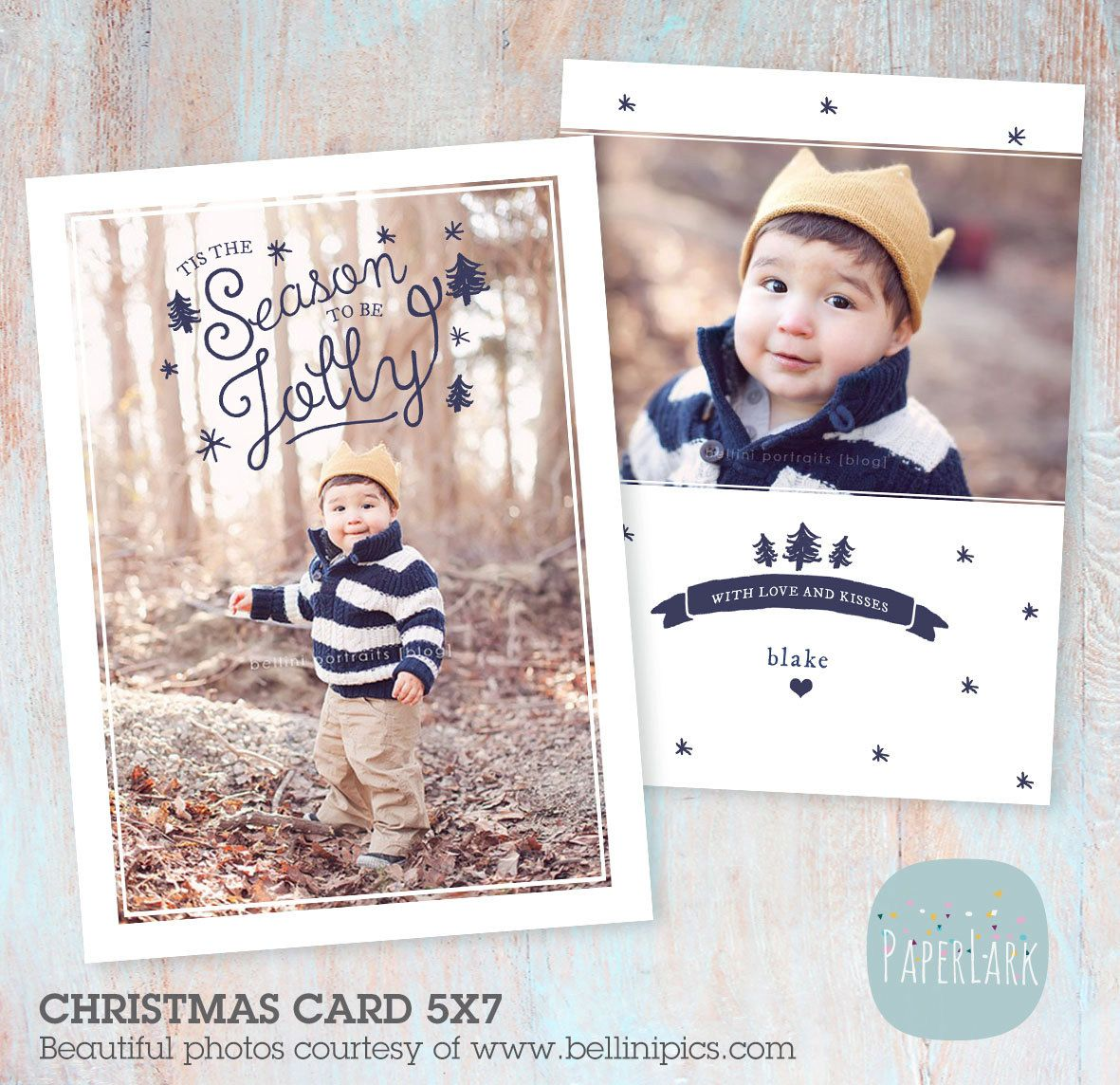 Holiday Card Template Christmas template